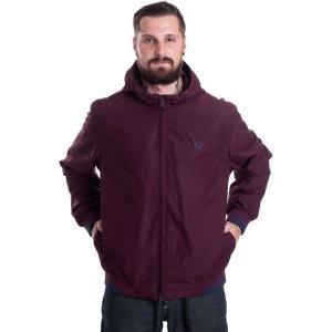 フレッドペリー Fred Perry メンズ ジャケット フード アウター - Tipped Hooded Sports Mahogany - Jacket burgundy|fermart-hobby