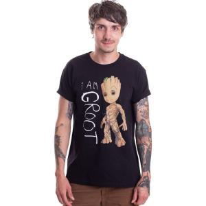 インペリコン Impericon メンズ Tシャツ トップス - I Am Groot Scribbles - T-Shirt black|fermart-hobby