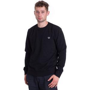 フレッドペリー Fred Perry メンズ スウェット・トレーナー トップス Pique Textured Black Sweater black|fermart-hobby