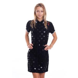 フレッドペリー Fred Perry レディース ワンピース ワンピース・ドレス - Heart Print Pique Black - Dress black|fermart-hobby
