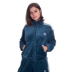 アディダス Adidas レディース ジャージ アウター - Velvet Tracktop Tech Mineral - Track Jacket blue|fermart-hobby