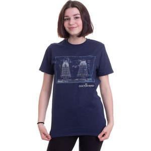 インペリコン Impericon レディース Tシャツ トップス - Dalek Blueprint Navy - T-Shirt blue|fermart-hobby