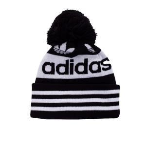 アディダス Adidas ユニセックス ニット ポンポン ビーニー 帽子 - AC Jacquard Pom - Beanie black|fermart-hobby
