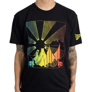 アースレス Earthless メンズ トップス Tシャツ Skull Mountain Black|fermart-hobby