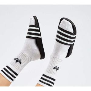 アディダス adidas Originals レディース サンダル・ミュール シューズ・靴 Adilette Slide Sandal Black / White|fermart-hobby