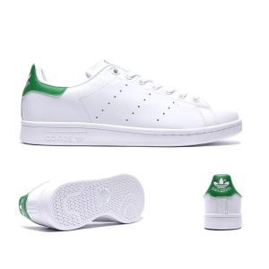 アディダス adidas Originals メンズ スニーカー シューズ・靴 Stan Smith Trainer White / Green|fermart-hobby