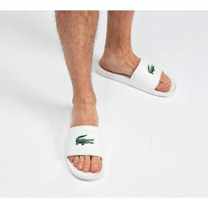 ラコステ メンズ サンダル シューズ・靴 Fraisier Slide Sandal White / Green|fermart-hobby