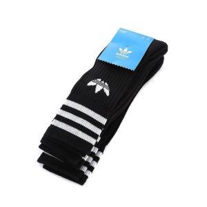 アディダス adidas Originals メンズ ソックス インナー・下着 Solid Crew 3 Pack Sock Black|fermart-hobby