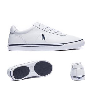 ラルフ ローレン メンズ スニーカー シューズ・靴 Hanford Leather Trainer White|fermart-hobby