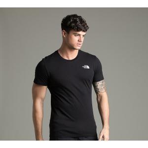 ザ ノースフェイス メンズ Tシャツ トップス Simple Dome T-Shirt Black / White|fermart-hobby