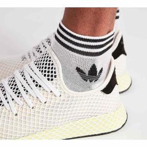 アディダス adidas Originals メンズ ソックス インナー・下着 trefoil ankle three pack socks White|fermart-hobby