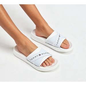 トミー ヒルフィガー Tommy Hilfiger レディース サンダル・ミュール シューズ・靴 Splash Strap Sandal White|fermart-hobby
