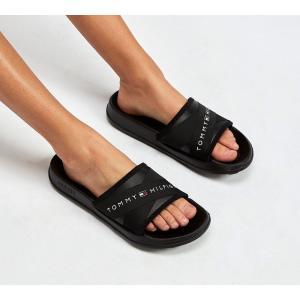 トミー ヒルフィガー Tommy Hilfiger レディース サンダル・ミュール シューズ・靴 Splash Strap Sandal Black|fermart-hobby