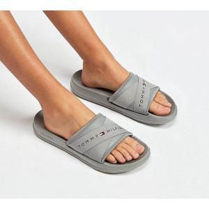 トミー ヒルフィガー Tommy Hilfiger レディース サンダル・ミュール シューズ・靴 Splash Strap Sandal Grey|fermart-hobby