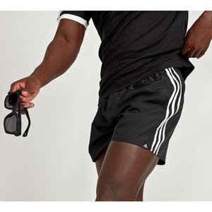 アディダス メンズ 海パン 水着・ビーチウェア 3-Stripe Basic Swim Short Black|fermart-hobby