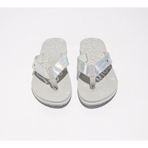 トミー ヒルフィガー Tommy Hilfiger レディース サンダル・ミュール シューズ・靴 mirror sparkle beach sandal Metallic White|fermart-hobby