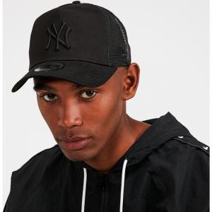 ニューエラ メンズ キャップ 帽子 NY Trucker Cap Black / Black fermart-hobby