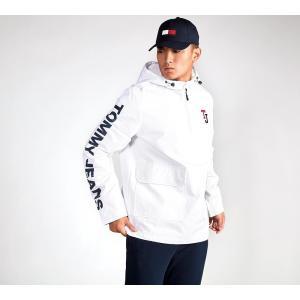 トミー ジーンズ メンズ ジャケット アウター Overhead Windrunner Jacket White|fermart-hobby