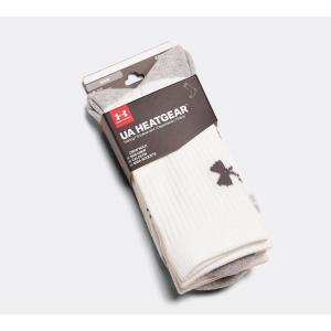 アンダーアーマー Under Armour メンズ ソックス インナー・下着 3 Pack Crew Sock White|fermart-hobby