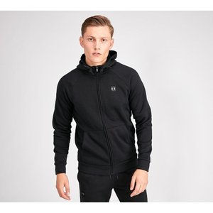 アンダーアーマー Under Armour メンズ パーカー トップス Rival Fleece Full Zip Hooded Top Black|fermart-hobby