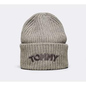 1fc7e107c346e4 トミー ヒルフィガー Tommy Hilfiger レディース ニット 帽子 Logo Patch Beanie Hat Grey Heather