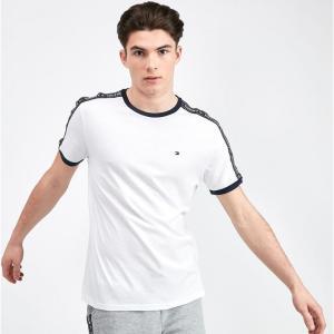 トミー ヒルフィガー Tommy Hilfiger メンズ Tシャツ トップス tape ringer t-shirt White|fermart-hobby