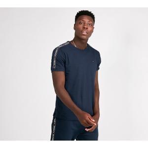 トミー ヒルフィガー Tommy Hilfiger メンズ Tシャツ トップス Tape Ringer T-Shirt Navy|fermart-hobby