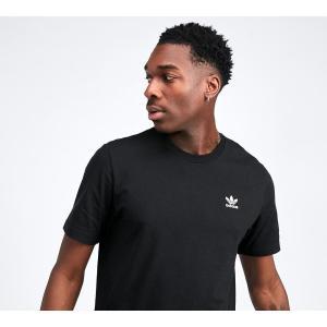 アディダス adidas Originals メンズ Tシャツ トップス Essential Small Logo T-Shirt Black|fermart-hobby