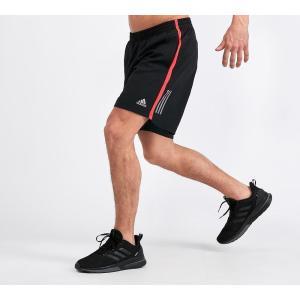 アディダス adidas メンズ ショートパンツ ボトムス・パンツ Own The Run Short Black / Red|fermart-hobby