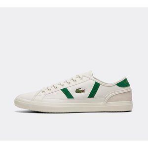 ラコステ Lacoste メンズ スニーカー シューズ・靴 Sideline Leather Trainer White / Green / White|fermart-hobby