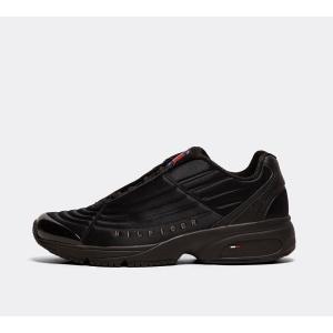 トミー ヒルフィガー Tommy Hilfiger メンズ シューズ・靴 ランニング・ウォーキング Heritage Runner Trainer Black / Black / Black|fermart-hobby