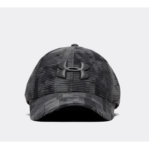 アンダーアーマー Under Armour メンズ キャップ 帽子 blitzing print cap Black/Grey|fermart-hobby