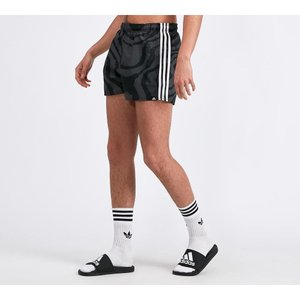 アディダス adidas Originals メンズ 海パン 水着・ビーチウェア Three Stripe Swim Short Black|fermart-hobby