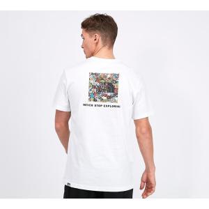 ザ ノースフェイス The North Face メンズ Tシャツ トップス redbox t-shirt White/Stickerbomb fermart-hobby