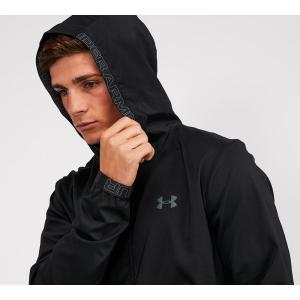 アンダーアーマー Under Armour メンズ ジャケット アウター vanish woven full zip hooded jacket Black fermart-hobby