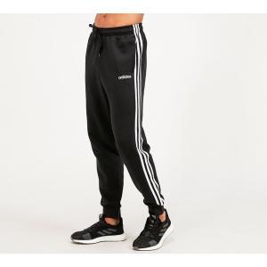 アディダス adidas メンズ スウェット・ジャージ ボトムス・パンツ 3 stripe fleece cuff track pant Black/White fermart-hobby
