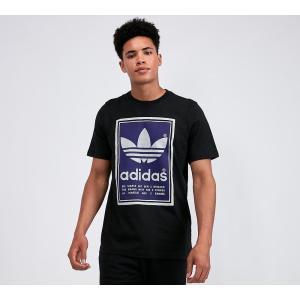 アディダス adidas Originals メンズ Tシャツ トップス filled label t-shirt Black/Purple|fermart-hobby