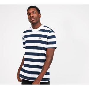 アディダス adidas Originals メンズ Tシャツ トップス stripe t-shirt Indigo/White|fermart-hobby