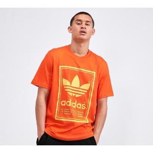 アディダス adidas Originals メンズ Tシャツ トップス vintage tongue label t-shirt Orange/Flash|fermart-hobby