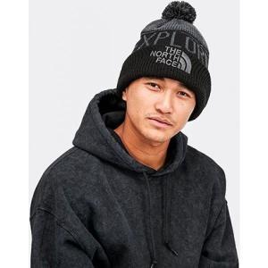 ザ ノースフェイス The North Face メンズ ニット ポンポン ビーニー 帽子 retro pom beanie Grey/Black fermart-hobby