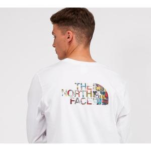 ザ ノースフェイス The North Face メンズ 長袖Tシャツ トップス easy long sleeve t-shirt White/Stickerbomb fermart-hobby