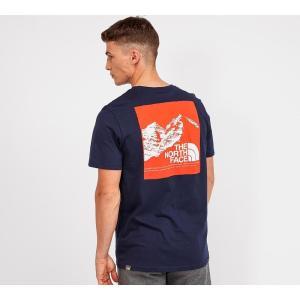 ザ ノースフェイス The North Face メンズ Tシャツ トップス mountain explorer t-shirt Blue/Orange|fermart-hobby