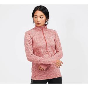 アンダーアーマー Under Armour レディース Tシャツ ハーフジップ トップス tech twist 1/2 zip t-shirt Frac Red|fermart-hobby