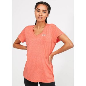 アンダーアーマー Under Armour レディース Tシャツ Vネック トップス tech twist v-neck t-shirt Peach Orange|fermart-hobby