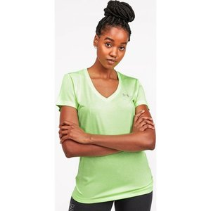 アンダーアーマー Under Armour レディース Tシャツ Vネック トップス tech twist v-neck t-shirt Neon Green|fermart-hobby
