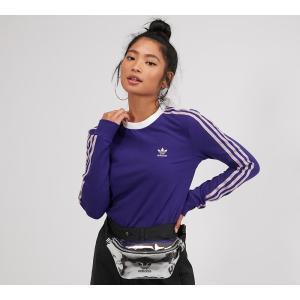 アディダス adidas Originals レディース 長袖Tシャツ トップス three stripe long sleeve t-shirt Collegiate Purple|fermart-hobby
