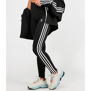 アディダス adidas Originals レディース スパッツ・レギンス インナー・下着 3 Stripe High Waist Legging Black/White|fermart-hobby