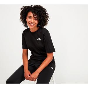 ザ ノースフェイス The North Face レディース Tシャツ トップス boyfriend fit dome t-shirt Black/White fermart-hobby