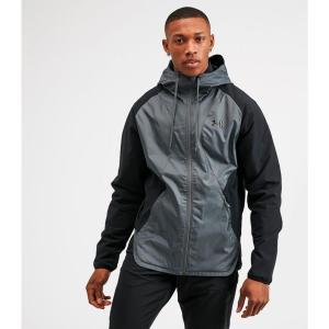 アンダーアーマー Under Armour メンズ ジャケット アウター stretch woven jacket Black/Pitch Grey|fermart-hobby