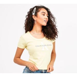 カルバンクライン Calvin Klein Jeans レディース Tシャツ トップス organic baby t-shirt Mimosa|fermart-hobby